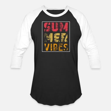 Sports summer vibes typography - Unisex Baseball T-Shirt