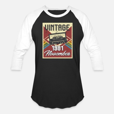 37th Birthday 37th Birthday Gifts Retro Vintage November 1981 - Baseball T-Shirt
