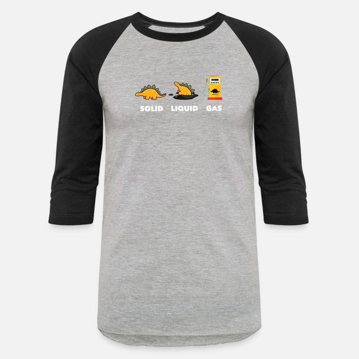 d646d34b Dinosaur States Solid Liquid Gas Unisex Baseball T-Shirt | Spreadshirt