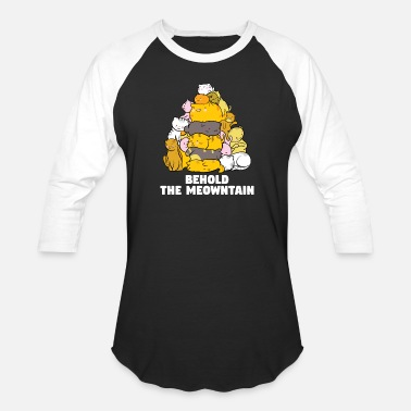 Cat Behold The Meowntain - Baseball T-Shirt