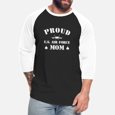 Airforce Proud U S Air Force Mom T Shirt - Unisex Baseball T-Shirt