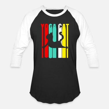 Cats Yoga Yoga Cat - Baseball T-Shirt