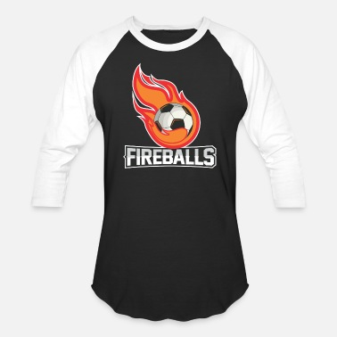 Fire Ball Fire Balls - Unisex Baseball T-Shirt