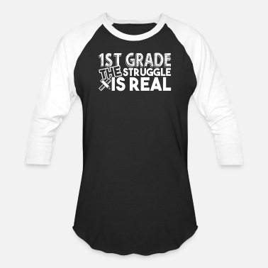 1st Grade 1st Grade Teacher Struggle - Baseball T-Shirt