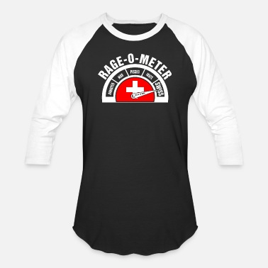 Swiss German Rage O Meter Swiss - Baseball T-Shirt