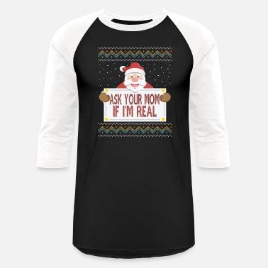 ea2609e2d Offensive Christmas FUNNY UGLY CHRISTMAS SWEATER - Unisex Baseball T-Shirt