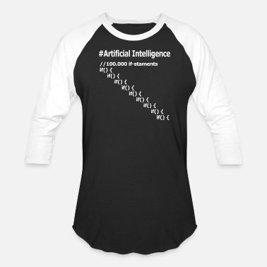 Intelligent Artificial Intelligence - Unisex Baseball T-Shirt
