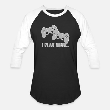 Gamers I Play White Game Gamer Gaming Geschenk - Unisex Baseball T-Shirt