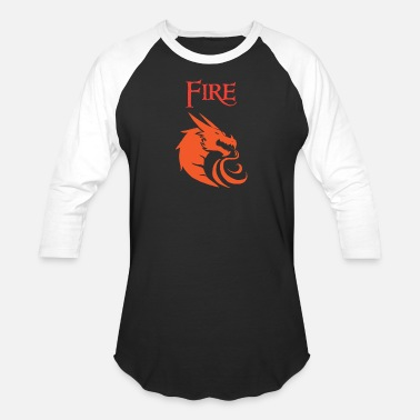 Fire Dragon Fire Dragon - Unisex Baseball T-Shirt