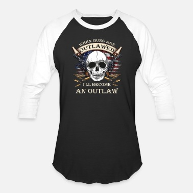 Gun Gun Rights - Outlaw - Unisex Baseball T-Shirt