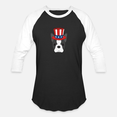 Boston Tea Party Patriotischer Boston Terrier - Unisex Baseball T-Shirt