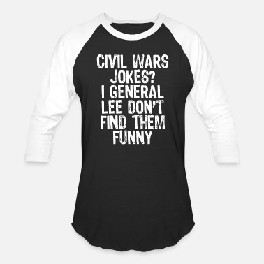 Civil War Confederate Soldier War - civil wars jokes - Unisex Baseball T-Shirt