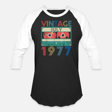 1977 Retro Vintage July 1977 birthday - Unisex Baseball T-Shirt