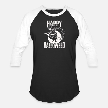 Weed Weed Shirt Happy Halloween funny - Baseball T-Shirt