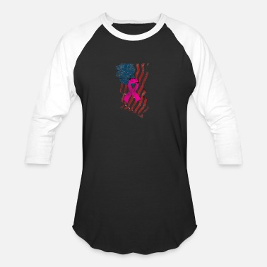 Survivor American Flag Cancer Survivor - Unisex Baseball T-Shirt
