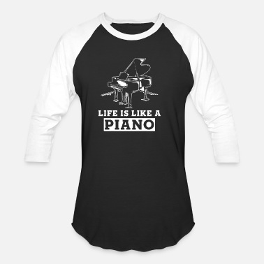 Piano Piano Music School Piano Gift - Unisex Baseball T-Shirt