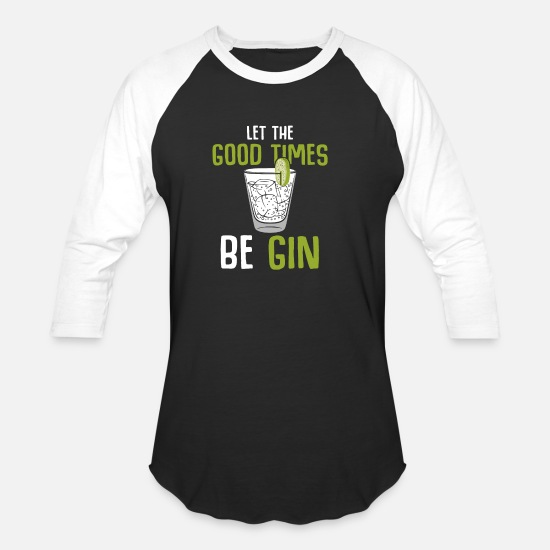 Vodka T-Shirts - Gin - Unisex Baseball T-Shirt black/white