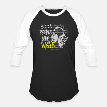 New Wave cool people like Wave - Unisex Baseball T-Shirt