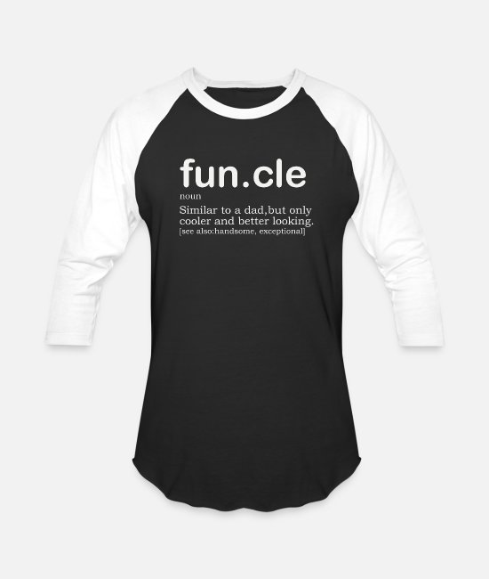 Design T-Shirts - Mens Funcle Definition Mens Uncle Funny - Unisex Baseball T-Shirt black/white