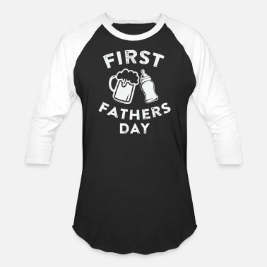 Gag First Fathers Day Gift Ideas for Dad and Papa - Unisex Baseball T-Shirt