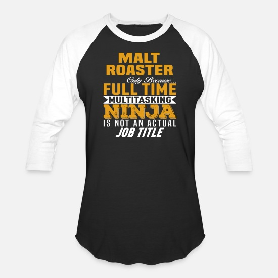 Funny T-Shirts - Malt Roaster - Unisex Baseball T-Shirt black/white