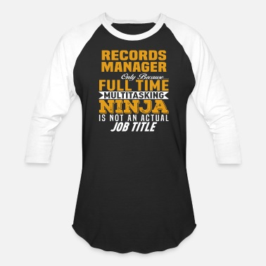 Record Records Manager - Unisex Baseball T-Shirt