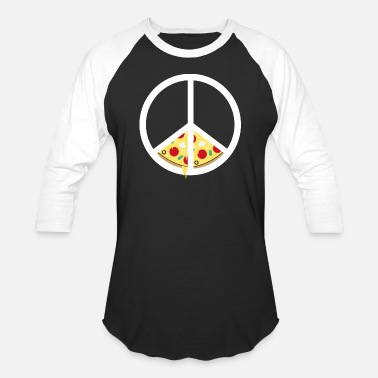Peace Love Pizza Pizza And Peace Gift Idea - Baseball T-Shirt
