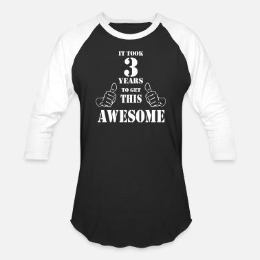 Happy 3rd Anniversary 3rd Birthday Get Awesome T Shirt Made in 2014 - Baseball T-Shirt