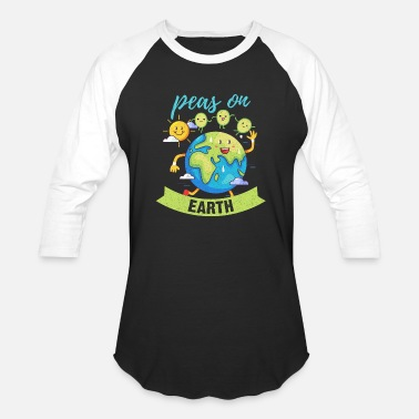 Support World Peace Peas On Earth Peace Anti-War World Peace Gift - Baseball T-Shirt