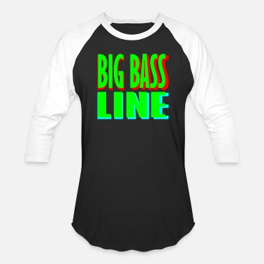 Bass Line big bass line line - Baseball T-Shirt