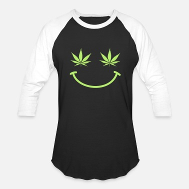 Happy 420 420 Rasta Weed Smilie Present Gifts - Unisex Baseball T-Shirt