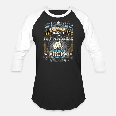 Youth Worker Shirts for Men, Job Shirt Youth Worker - Baseball T-Shirt