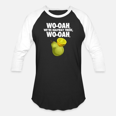 Misheard lemon on a pear - funny misheard lyrics - Unisex Baseball T-Shirt