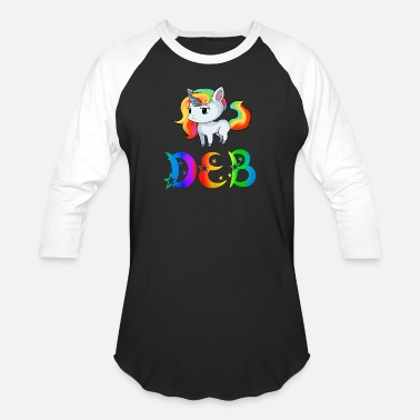 Deb Deb Unicorn - Baseball T-Shirt