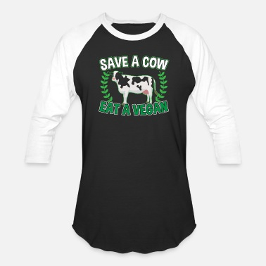 Save The Cow SAVE A COW - Baseball T-Shirt