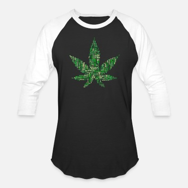 Hashish marijuana leaf of words - Unisex Baseball T-Shirt