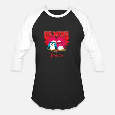 Love Birds Be mine forever - Unisex Baseball T-Shirt