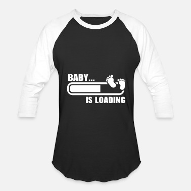 Baby Design Couples Funny Pregnant Design Baby Loading - Baseball T-Shirt
