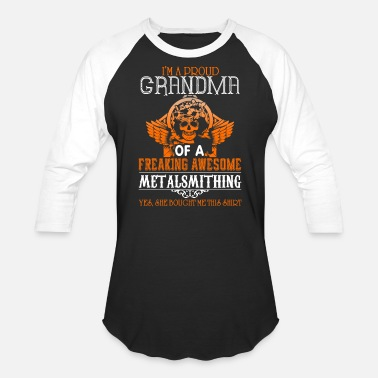 Metalsmith Proud Grandma Of An Awesome Metalsmithing T Shirt - Unisex Baseball T-Shirt