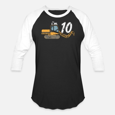 Excavator Kids Excavator For Kids 10 Kids Excavating Shirt - Baseball T-Shirt