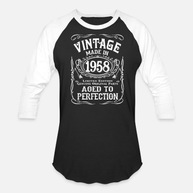 1958 Aged To Perfection Vintage Made In 1958 Birhday Gift Idea - Baseball T-Shirt