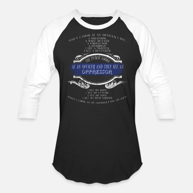 Sheepdog Police Police Sheepdog Police Heroes The Protector Police Wife - Unisex Baseball T-Shirt