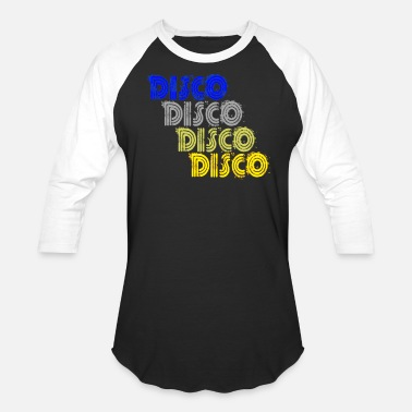 Disco Funk Disco Repeat Neon 1970s Disco Funk Vintage Retro - Baseball T-Shirt