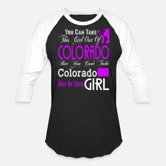 Colorado T-Shirts - Colorado T Shirt, Colorado Girl T Shirt, - Unisex Baseball T-Shirt black/white