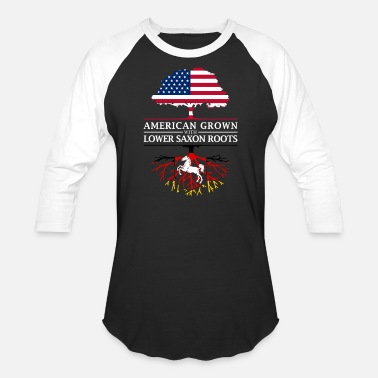 Saxon American Grown with Lower Saxon Roots Saxony Design - Baseball T-Shirt