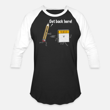 Overdue Can't Get Stuff Done When The To Do List Runs Away - Baseball T-Shirt