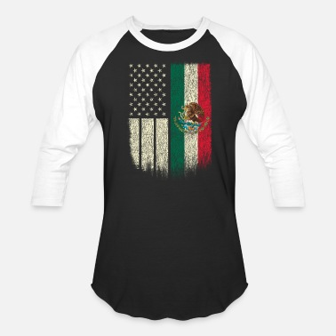 Flag Mexican American Patriot Mexican American Flag - Baseball T-Shirt