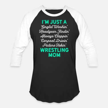 Funny Singlets & Wrestling Singlet Washin Mom White Teal Gift Light - Baseball T-Shirt