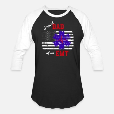 Proud Proud Dad of an EMT Paramedic Flag - Baseball T-Shirt