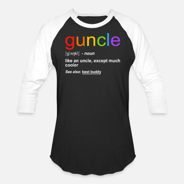 Funny Definition Guncle Funny Definition Gift - Baseball T-Shirt